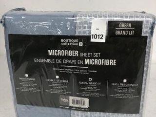 BOUTIQUE COllECTION MICROFIBER SHEET SET SIZE