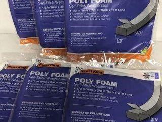 6PCS POlY FOAM SElF STICK WEATHERSEAl  1 2 W X