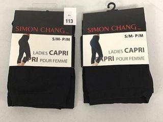 2 PCS SIMON CHANG lADIES CAPRI SIZE SMAll MEDIUM