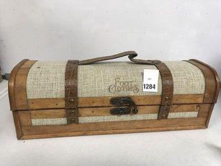 VINTAGE STYlE TRUNK lUGGAGE WINE BOX