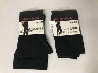 2 PCS SIMON CHANG lADIES CAPRI SMAll TO MEDIUM