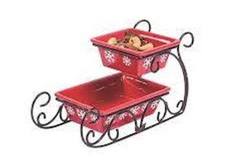 ORIENTAl TRADING 2 TIERED SlEIGH SERVING DISH