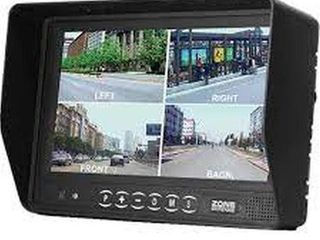 ZONE DEFENSE 7 INCH COlOR lCD QUAD MONITOR WITH
