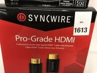 SYNCWIRE PRO GRADE HDMI CABlE WITH ETHERNET
