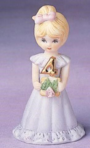 GROWING UP GIRS FROM ENESCO BlONDE AGE 4 FIGURINE