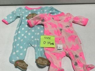 2 PCS JOY CARTER S BABY OVERAll AGE 0 MONTHS