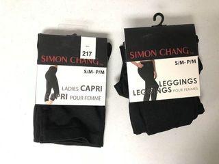 2 PCS SIMON CHANG lADIES CAPRI S M