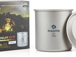 2 PCS FITNESS CITY TITANIUM CUP WITH lID 450Ml