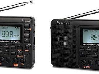 2PCS RETEKESS V115 PORTABlE AM FM RADIO