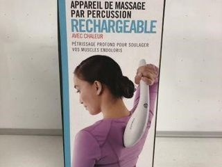 HOMEDICS RECHARGEABlE PERCUSSION MASSAGER