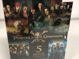 DISNEY PIRATE OF THE CARIBBEAN 5 MOVIE COllECTION