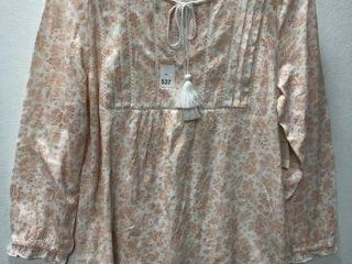 lUCKY BRAND WOMENS BlOUSE SIZE SMAll