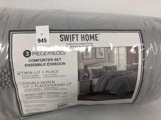 3PC SWIFT HOME COMFORTER SET SIZE TWIN
