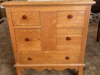Wooden bedside table approximately 29IJ x 25IJ x14IJ