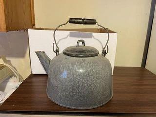 Vintage porcelain tea kettle