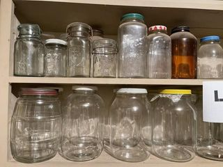 Vintage Mason and Ball canning jars