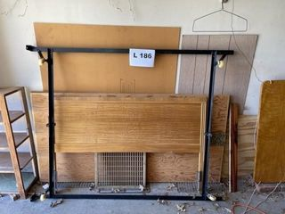 Full size vintage wooden head board and