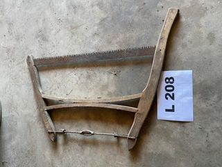 Antique wooden handled saw