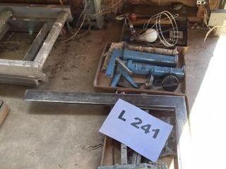 Metal framing squares  caulking guns  heat lamp