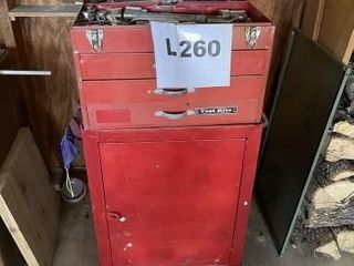 Shop tool box and cart on wheels includes misc