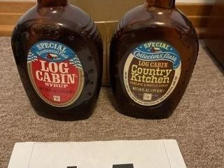 Vintage log cabin syrup collectible addition