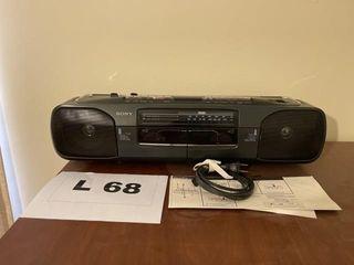 Vintage Sony radio cassette recorder