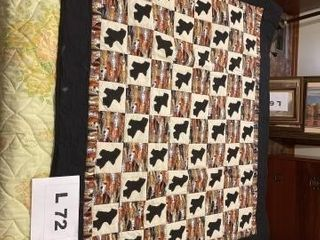 Homemade machine quilted and hand appliqued