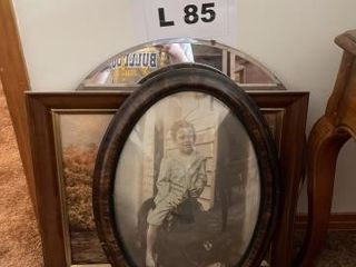 Vintage mirror  painting  picture
