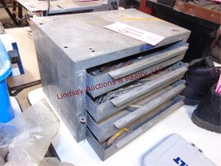 4 drawer metal toolbox WITH CONTENTS 18x12x12
