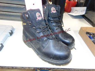Used Brahma leather steel toe boots Men s Size 10w