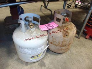 2 propane tanks  may not be full
