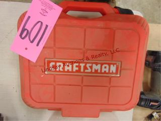 Craftsman air nailer w  case   2 partial pks nails