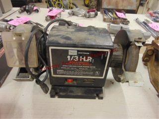 Craftsman 1 3 HP 6 x 3 4  bench grinder