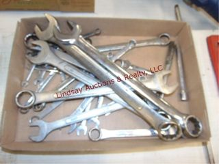 Flat of mixed brand wrenches