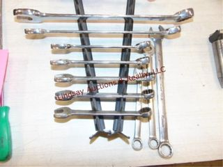 10pcs Snap on combo wrenches  7metric  3 SAE