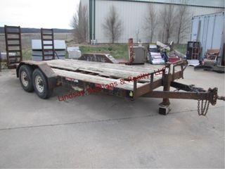 H H 18  flatbed TA 14 000GVW trailer  NO TITlE