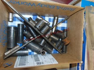 Box of Snap on sockets various sizes