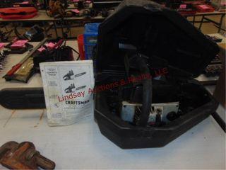 Craftsman gas pwrd chainsaw w  case  20  bar