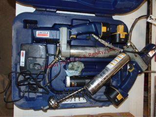 2 lincoln 12v cordless grease guns w  3 batteries
