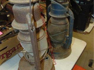 2 lanterns  need repair