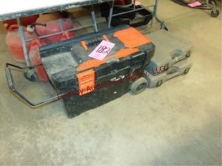 Plastic rolling tool box WITH CONTENTS