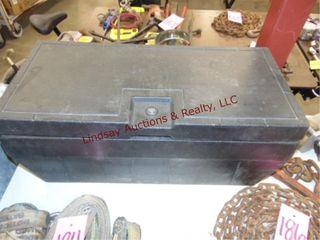 Plastic tool box  31  x 14  x 14