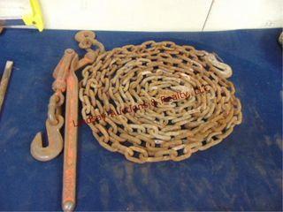Chain binder   chain w  2 hooks