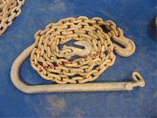 Chain w  2 hooks   big hook