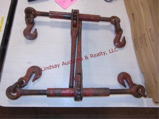 2  ratcheting chain binders