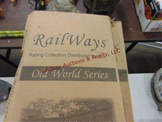 10 NIB cases of Railways Old World Series