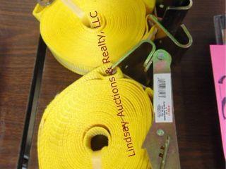 2 NEW ratchet straps 2  x 27