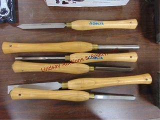 6pcs NEW Delta wood lathe turning tools