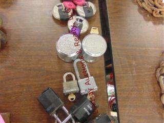 17 locks  some w  keys