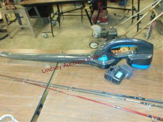Power Glide cordless leaf blower w  battery